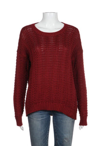 VINCE Chunky Knit Red Sweater Size S