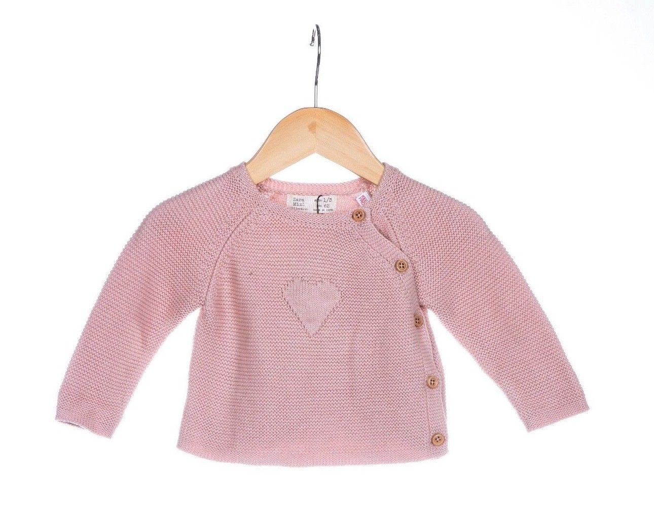 ZARA Baby Infant Pink Dusty Rose Knit Sweater Size 62cm / 1-3M