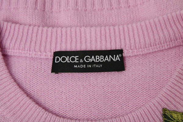DOLCE & GABBANA Floral Embroidered Sweater Size 6