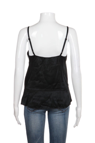 MARC JACOBS 100% Silk Black Cream Camisole Top Size 2