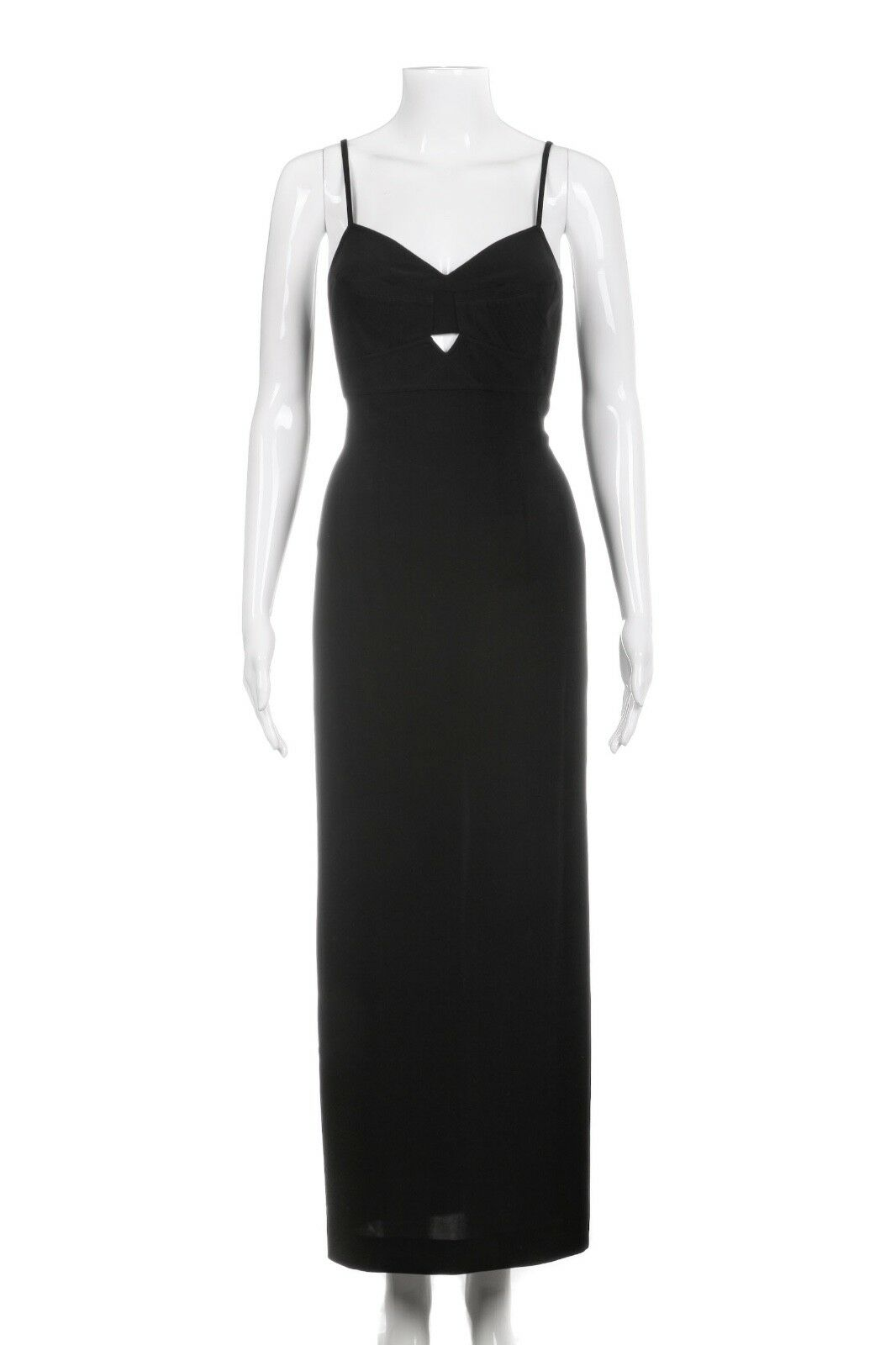 DOLCE & GABBANA black Midi Cut Out Cocktail Dress Size 6