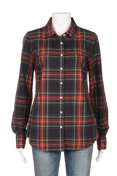 J.Crew Plaid Long Sleeve Tartan Shirt Size 4