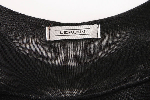 LEKUIN Threaded Long Black Caged Dress Top Size S/M