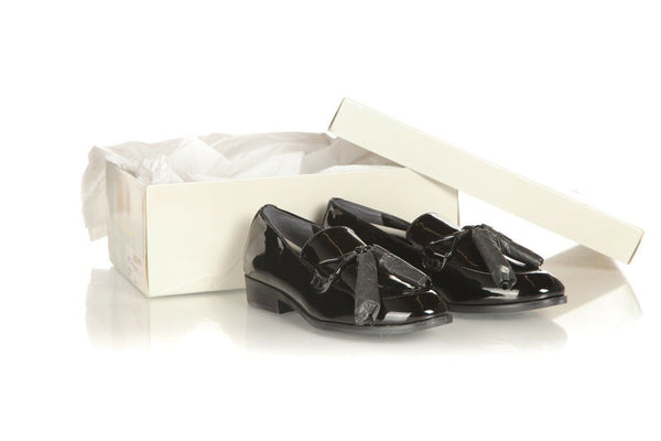 MARC FISHER Patent Leather Tassel Loafers Size 5 (New)