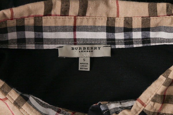 BURBERRY London Knit Long Sleeve Collared Shirt Size S
