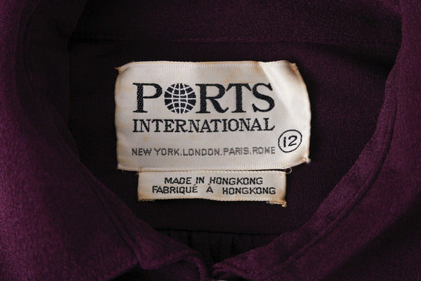 PORTS INTERNATIONAL Vintage Shirt Dress Size 12