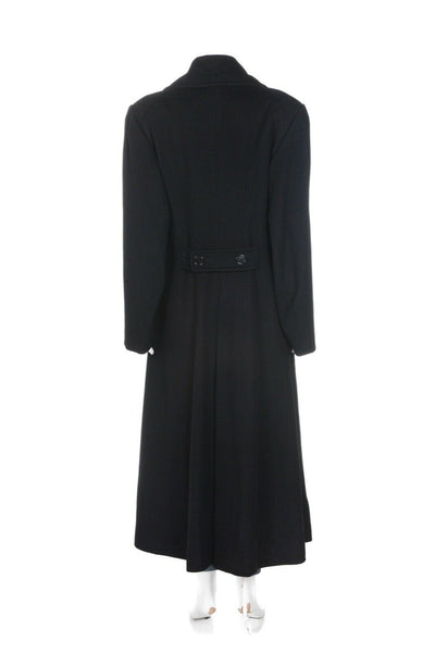 Burberrys Vintage Wool Cashmere Top Coat - back view