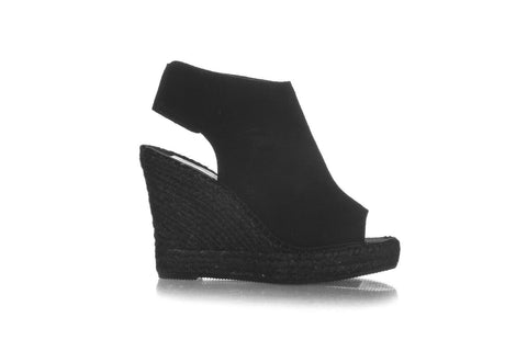 VIDORRETA Suede Peep Toe Wedge Booties Size 39 (New)