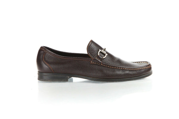 SALVATORE FERRAGAMO Men's Leather Horsebit Loafers Size 10