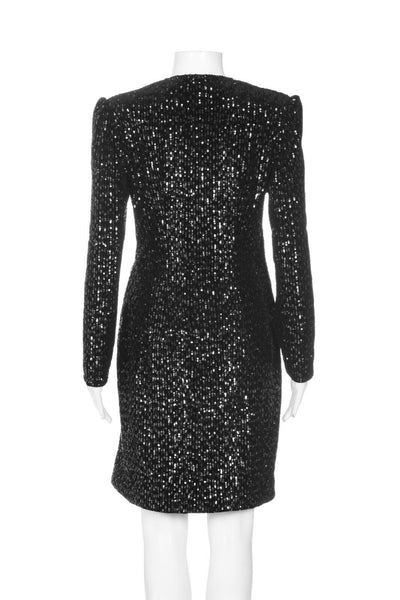 MAJE Sequin Wrap Cocktail Dress Size 3 (L)