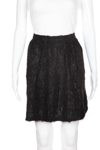 TOPSHOP Metallic Flared Skirt Size 10