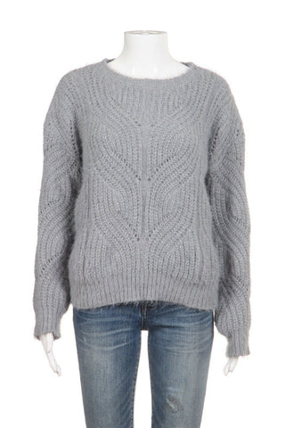 PHILOSOPHY Chunky Gray Knit Sweater Size M