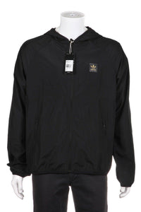 ADIDAS Black BB Wind Jacket Gold Skateboarding Size L (New)