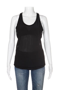 Lululemon Black Revitalize Mesh Sheer Tank Top Size 8