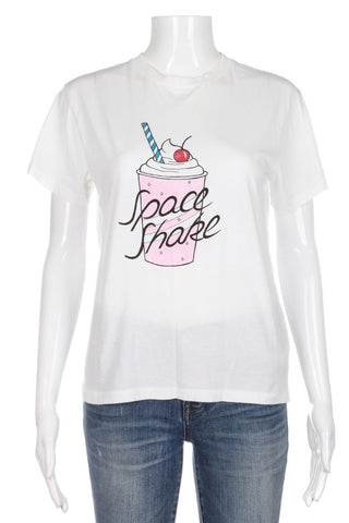 GANNI Space Shake Graphic Short Sleeve Top Size S