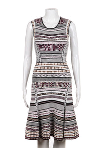 DIANE VON FURSTENBERG Bandage Flared Dress Size P