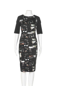 LAFAYETTE 148 New York Faryn City Lights Combo Sheath Dress