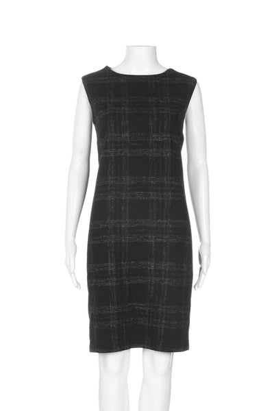 BARNEYS NEW YORK Plaid Wool Sheath Dress