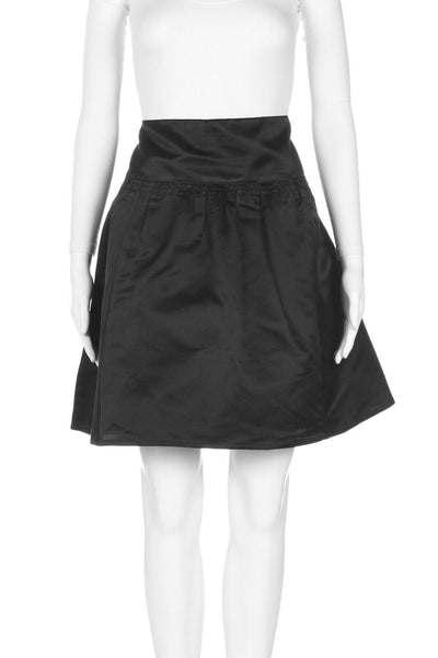 NANETTE LEPORE Silk Structured A-Line Skirt Size 8