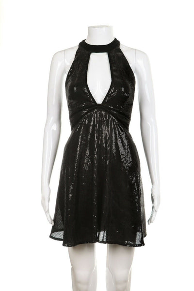 FREE PEOPLE Sequin Embellished Choker Dress Size S (New)