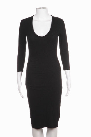 JAMES PERSE Charcoal Gray Crop Sleeve Bodycon Dress Size 1