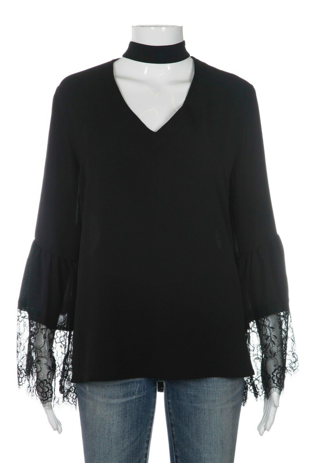HARVE BERNARD Lace Bell Sleeve Top Size XL (New)