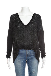 ROBERT RODRIGUEZ Black Sequin Blouse