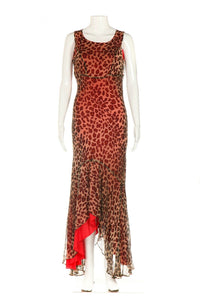 LEW MAGRAM Collection Leopard Silk Dress Size 6