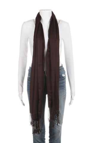 CHRISTIAN DIOR Chocolate Brown Pashmina Scarf Shawl