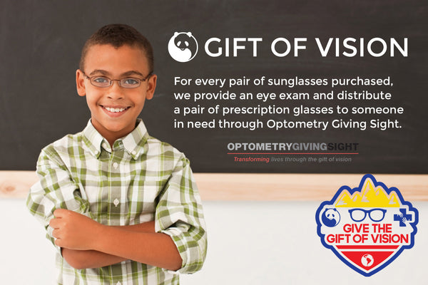 Give the Gift of Vision to someone in need with every pair of glasses purchased