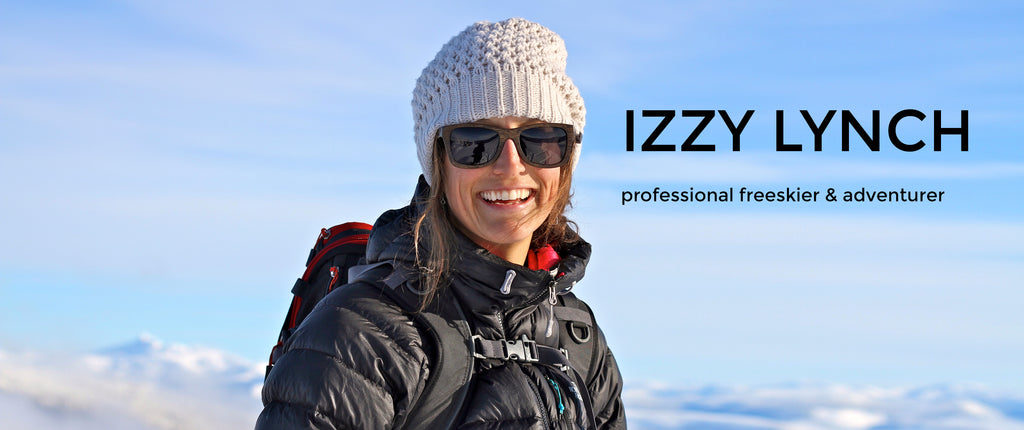 Izzy Lynch: Professional skiier wearing wearpanda bamboo sunglasses | Monroe