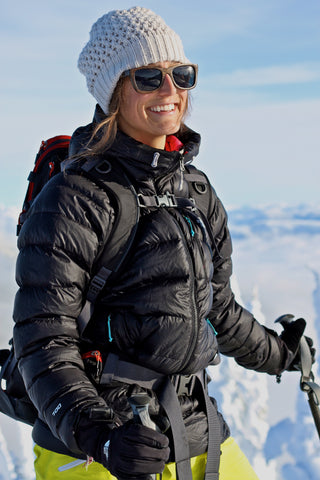 Freeskier Izzy Lynch: Adventurous woman wearing wood sunglasses from wearpanda | Monroe