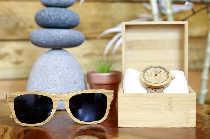 Eco-Friendly sunglasses and watches from WearPanda are made from bamboo