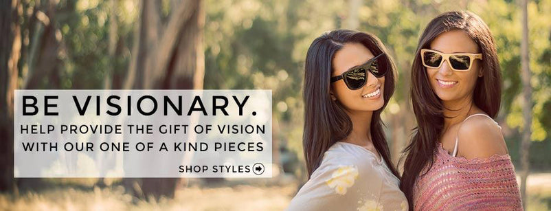 Every pair of glasses sold gives the Gift of Vision to someone in need