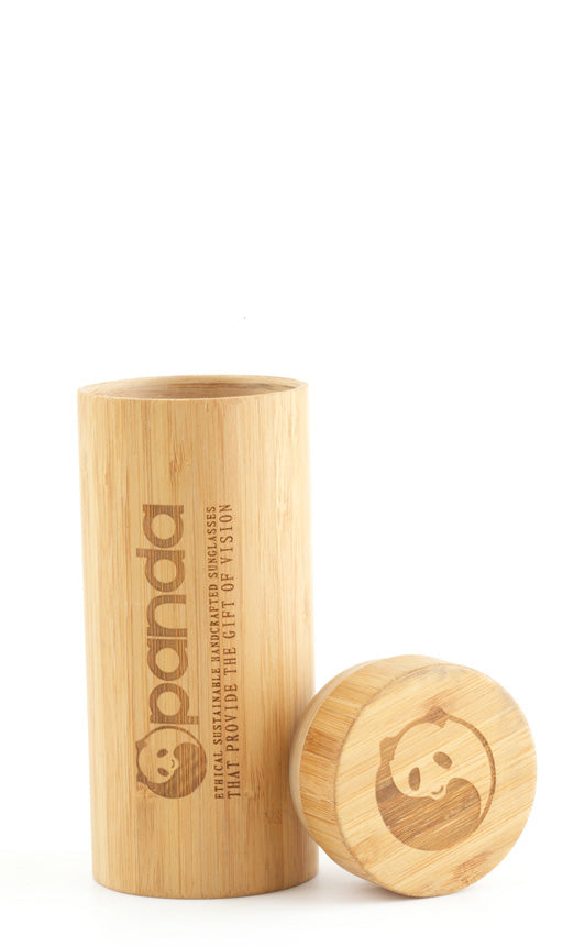 Bamboo Sunglasses Case - Natural / Sustainable Bamboo from Panda
