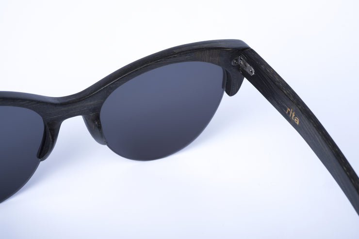 Eco-Friendly Bamboo Sunglasses - Rita Black product image