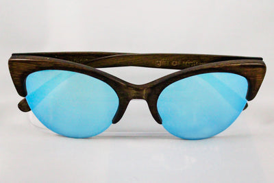 Eco-Friendly Bamboo Sunglasses - Rita Brown/Silver product image