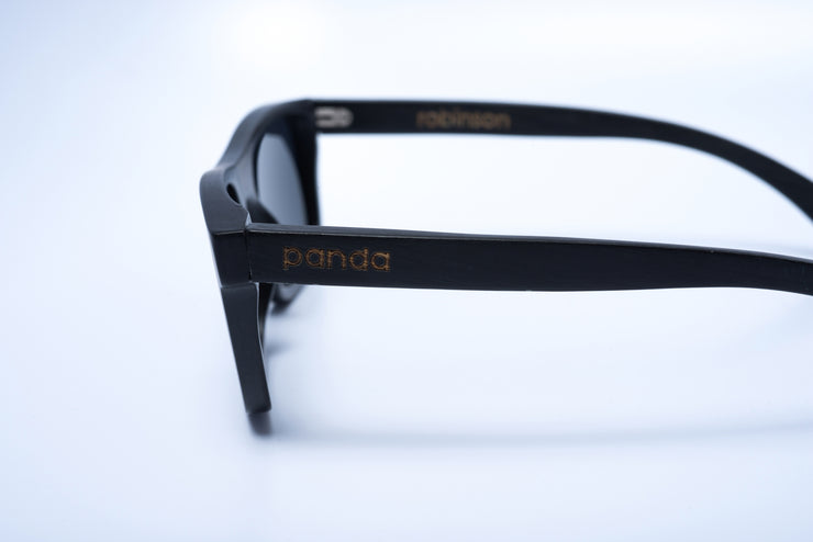 Eco-Friendly Bamboo Sunglasses - Robinson Black product image