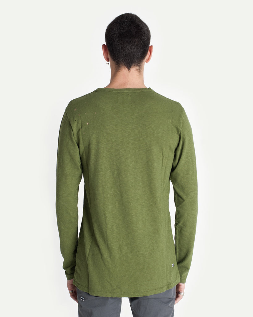 Cut & Sew Long Sleeve Tee - Green