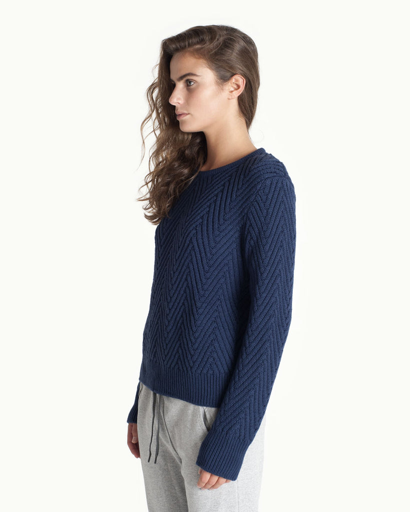 Textured Knit - Blue