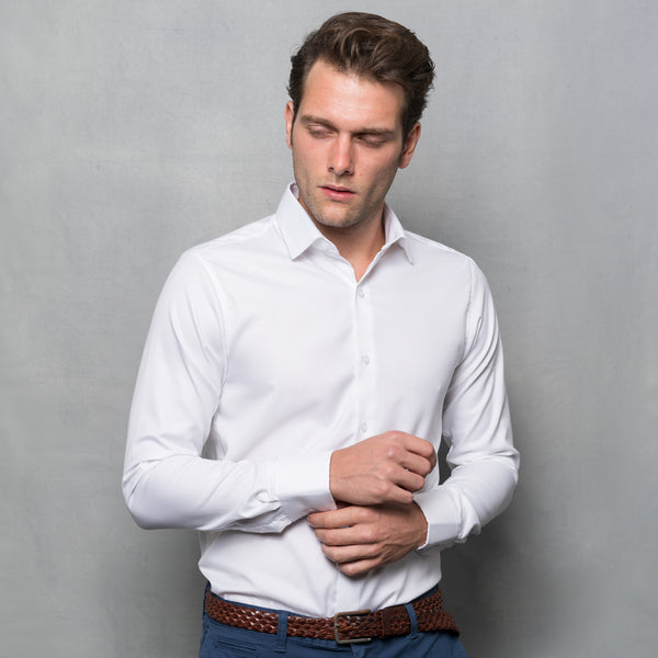 WHITE OXFORD LONG SLEEVE SHIRT