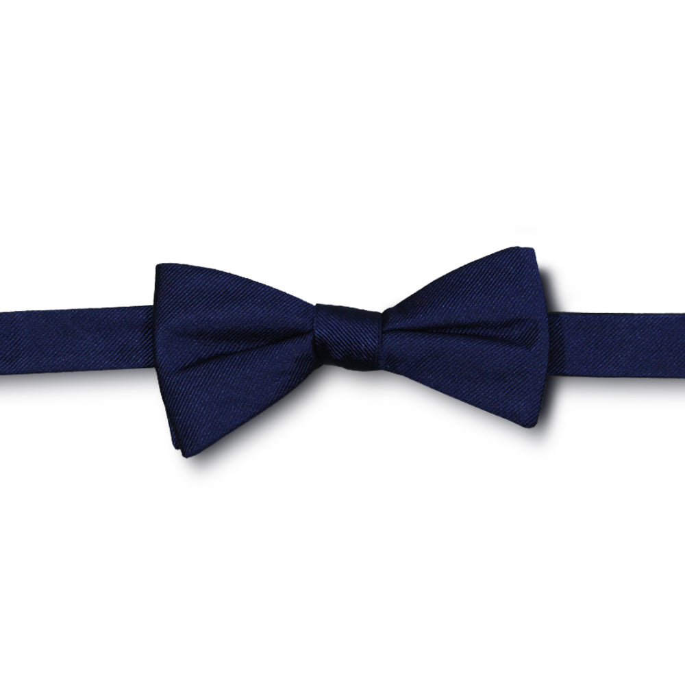 Blue Textured Bow Tie