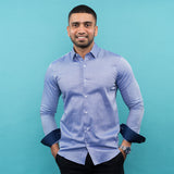 BLUE ROYAL OXFORD LONG SLEEVE SHIRT
