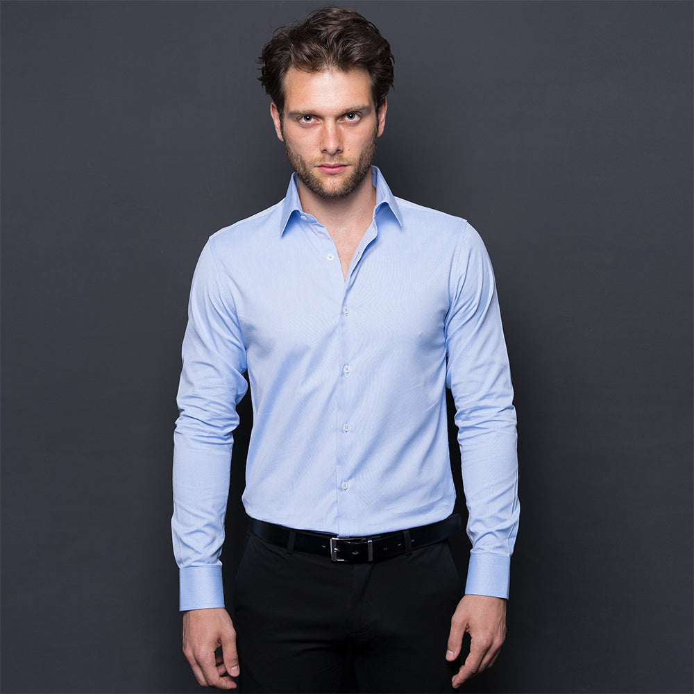 SKY BLUE OXFORD LONG SLEEVE SHIRT