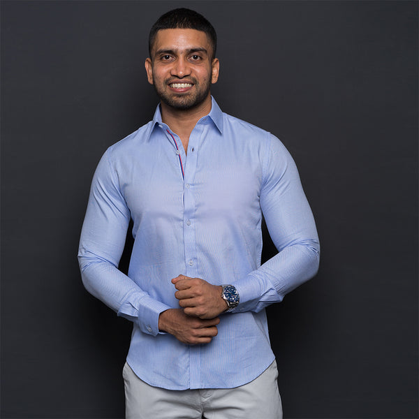 LIGHT BLUE ROYAL OXFORD LONG SLEEVE SHIRT