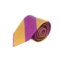 PURPLE & BRONZE 100% SILK TIE