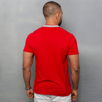 RED NEHRU POLO T-SHIRT