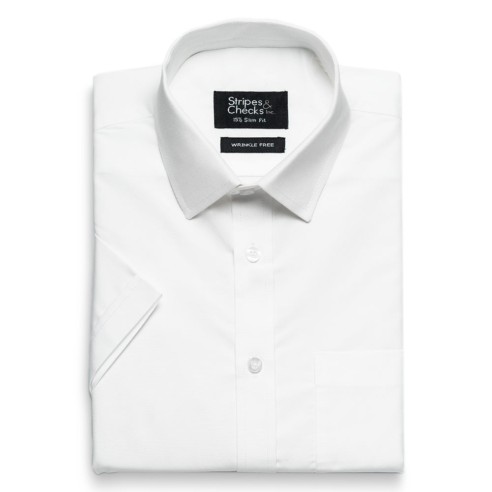 White Wrinkle-Free Short Sleeve Shirt