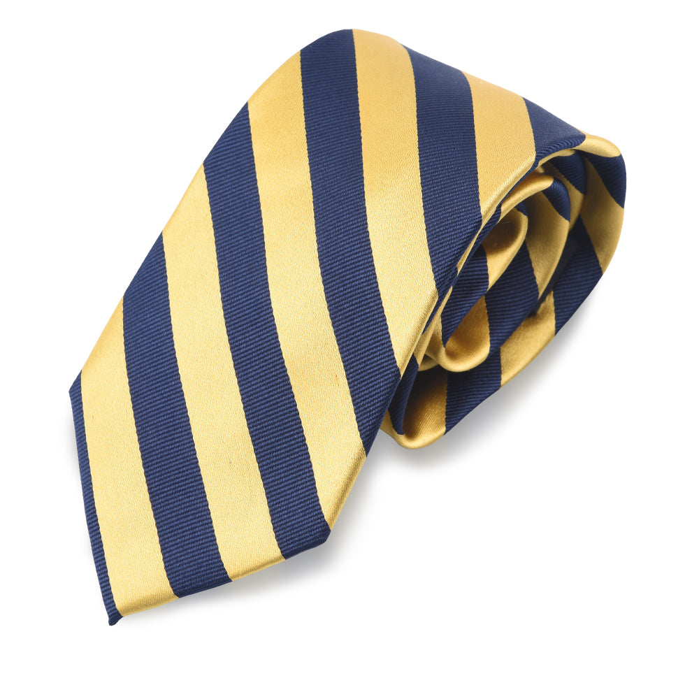 Yellow and Blue Striped Tie