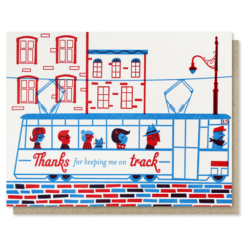 Trolley Thank You Card - SALE